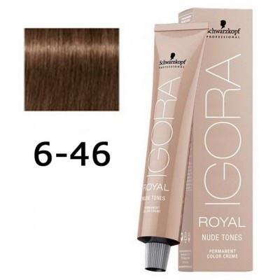 Краска для волос Schwarzkopf Igora Royal Nudes 60 мл 6-46 Темно-русый бежевый шоколадный