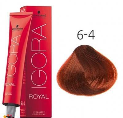 Краска для волос Schwarzkopf Professional Igora Royal 60 мл 6-4 Темный русый бежевый, фото 2