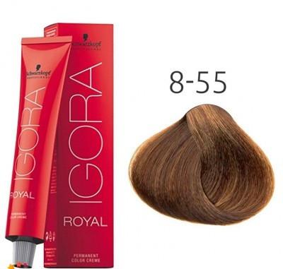 Краска для волос Schwarzkopf Professional Igora Royal 60 мл 8-55 Светлый русый золотистый экстра