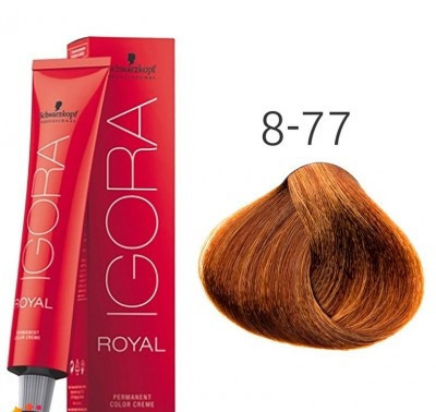 Краска для волос Schwarzkopf Professional Igora Royal 60 мл 8-77 Светлый русый медный экстра