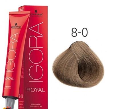 Краска для волос Schwarzkopf Professional Igora Royal 60 мл 8-0 Светлый русый натуральный