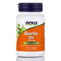 Активное долголетие NOW Garlic Oil 1500 mg (100 капс)