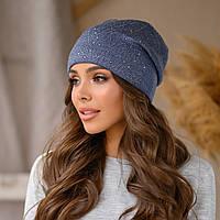 "Женская шапка LaVisio ""Дина"" 645-019 джинс"