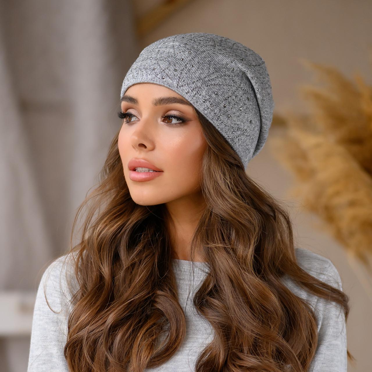 """Женская шапка LaVisio """"Дина"""" 645-017 серый"""