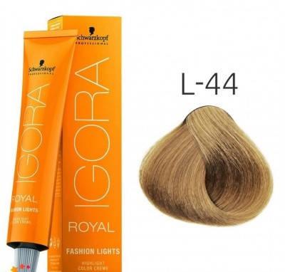 Краска для волос Schwarzkopf Igora Royal Fashion Light 60 мл L-44 Бежевый экстра, фото 2