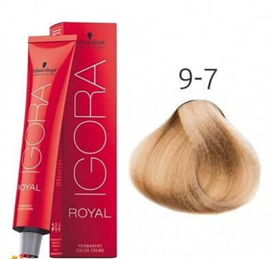 Краска для волос Schwarzkopf Professional Igora Royal 60 мл 9-7 Блондин медный, фото 2