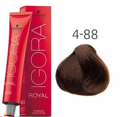 Краска для волос Schwarzkopf Professional Igora Royal 60 мл 4-88 Средне-коричневый красный экстра, фото 2
