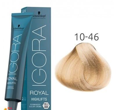 Краска для волос Schwarzkopf Igora Royal Highlift 60 мл 10-46 Ультра блондин бежевый шоколадный