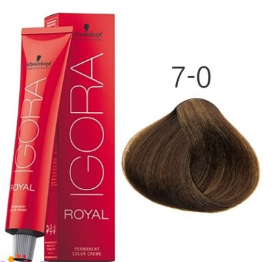 Краска для волос Schwarzkopf Professional Igora Royal 60 мл 7-0 средний русый натуральный
