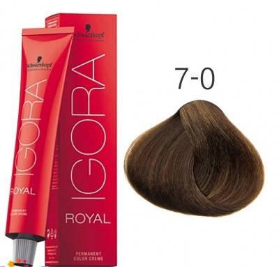 Краска для волос Schwarzkopf Professional Igora Royal 60 мл 7-0 средний русый натуральный, фото 2