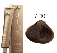 Стойкая краска для седых волос SCHWARZKOPF Igora Royal Absolutes 60 мл 7-10 Средне-русые сандре натуральный