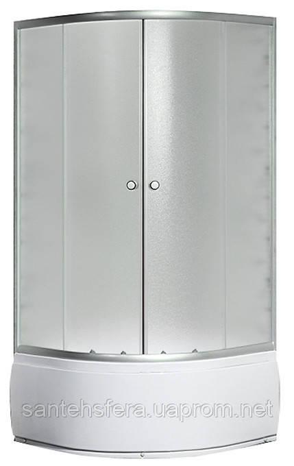 Душевой угол Sansa S-80/40, 80х80х196 см, профиль сатин, стекло шиншилла