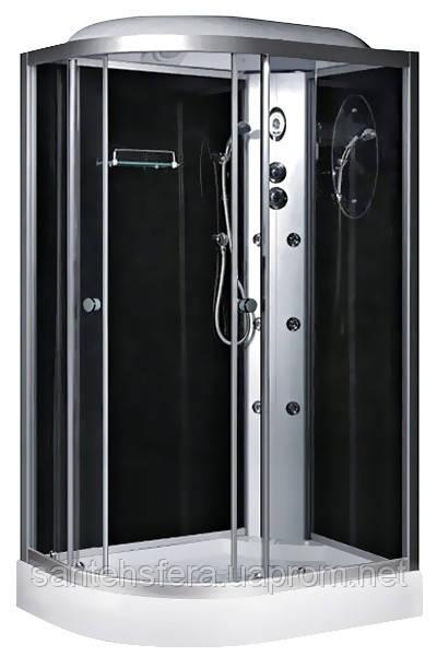 Гидробокс Fabio TMS-886/15 R c электроникой, 120 х 80 см, профиль сатин, стекло серое, заднее стекло черное