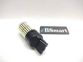 Автолампа заднего хода LED BSmart T20, W21W, 7440 180*, 144SMD, 12V, 21W  Canbus, Белый