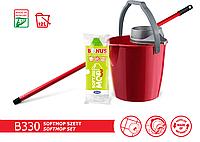 Bonus B330 набор SoftMop Set (ведро 12л, ручка 120см, моп) Красный