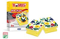 Bonus B476 губка профилированная Magical Sponge Scourer 2шт