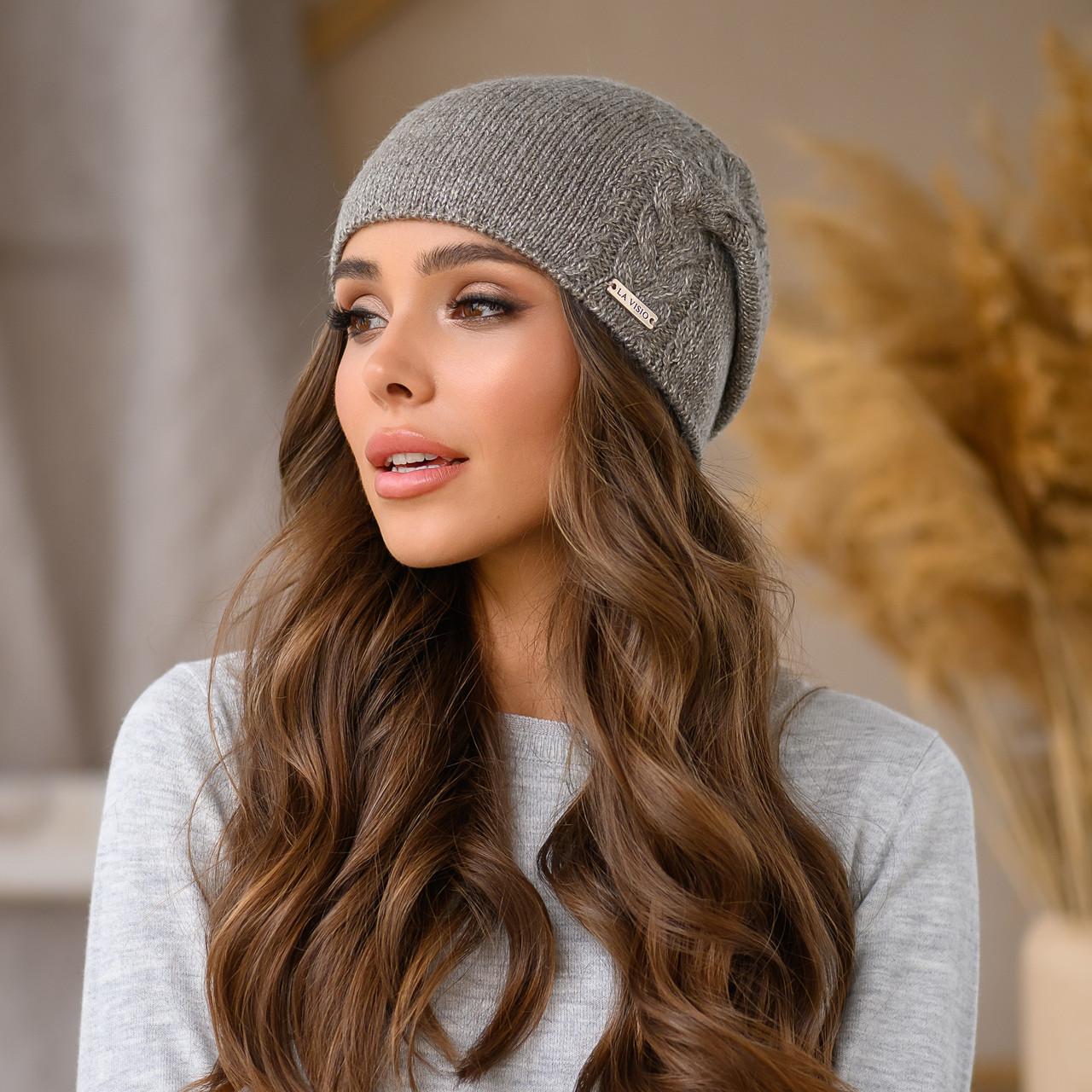 "Женская шапка LaVisio ""Рафаэль"" 533-067 коричневый серебро"