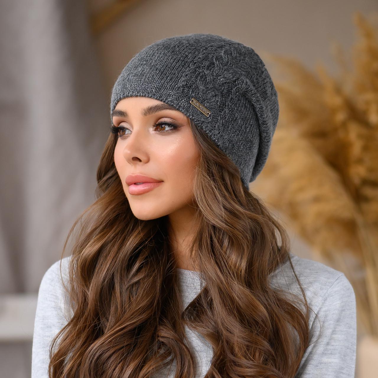 "Женская шапка LaVisio ""Рафаэль"" 533-013 темно серый"