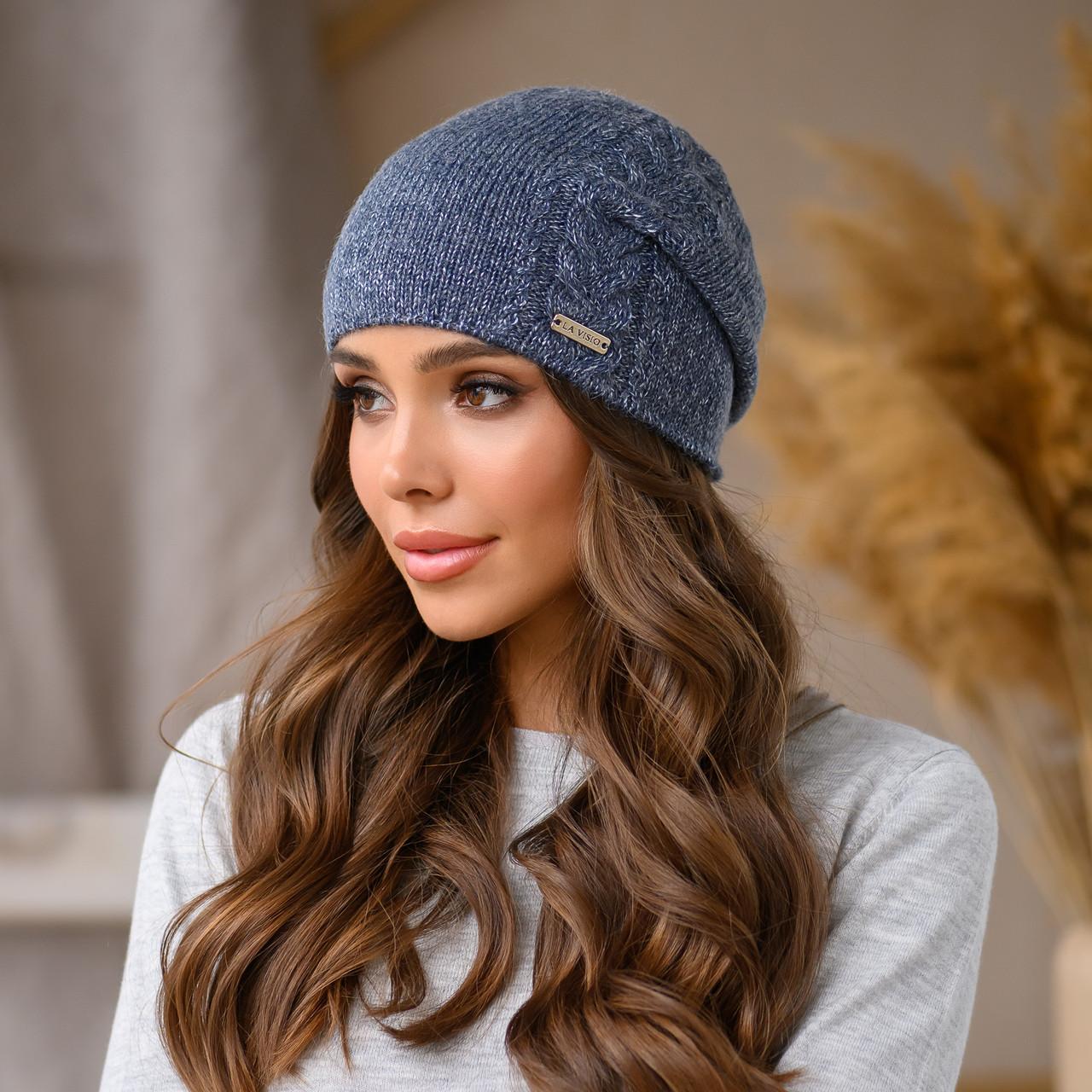 """Женская шапка LaVisio """"Рафаэль"""" 533-019 джинс"""