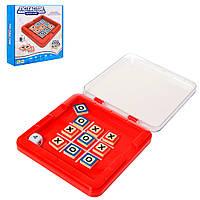Настольная игра 5076 (84шт) Крестики-нолики, игровое поле, кубик, фишки,в кор-ке, 22-21-5,5см