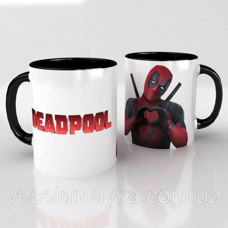 Чорна чашка Deadpool 5 (Дэдпул)