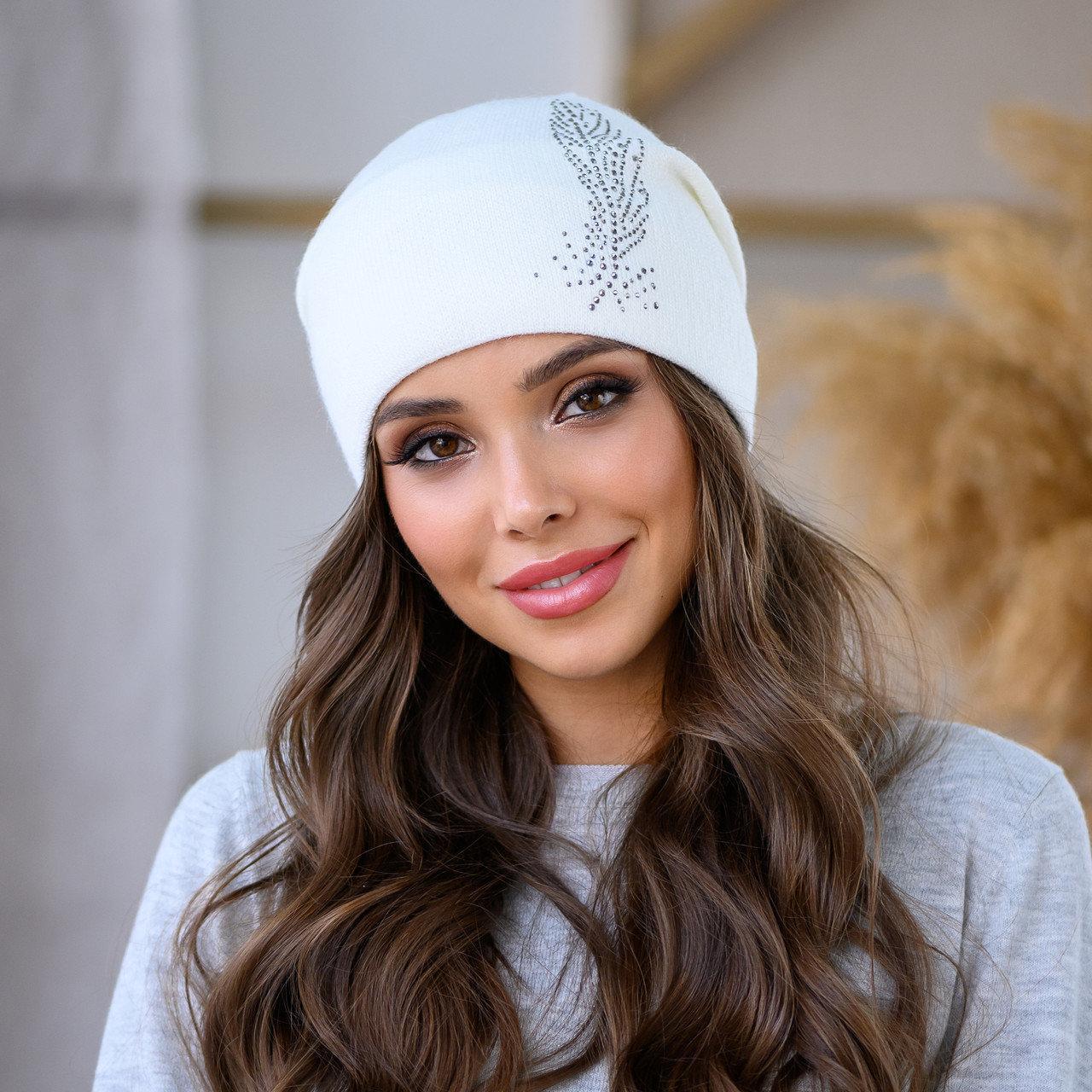 """Женская шапка LaVisio """"Шейла"""" 650-001 белый"""