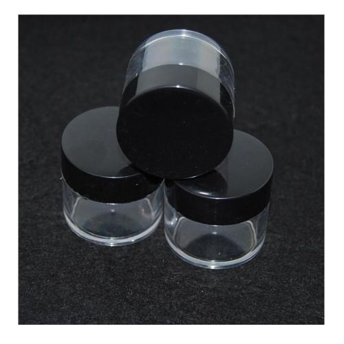 Баночка прозрачная 30г черная крышка