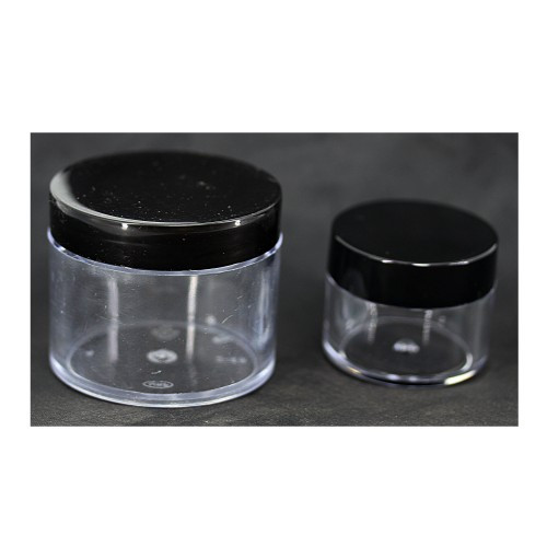 Баночка прозрачная 40-45г черная крышка