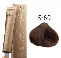 Стойкая краска для седых волос SCHWARZKOPF Igora Royal Absolutes 60 мл 5-60 Светлый коричневый шоколадный натуральный