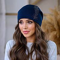 """Женская шапка LaVisio """"Шейла"""" 650-003 синий"""