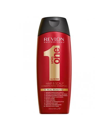 Шампунь-кондиционер Revlon Professional Uniq One Conditioning Shampoo 300 мл, фото 2