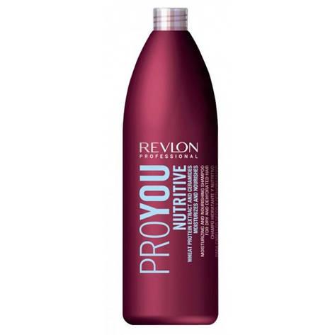 Шампунь питающий для сухих волос REVLON ProYou Nutririve Shampoo 1000 мл, фото 2