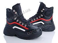 """Ботинки демисезонные женские """"Zoom"""" #LTW1957-L79. р-р 36-41. Цвет черный. Оптом"""