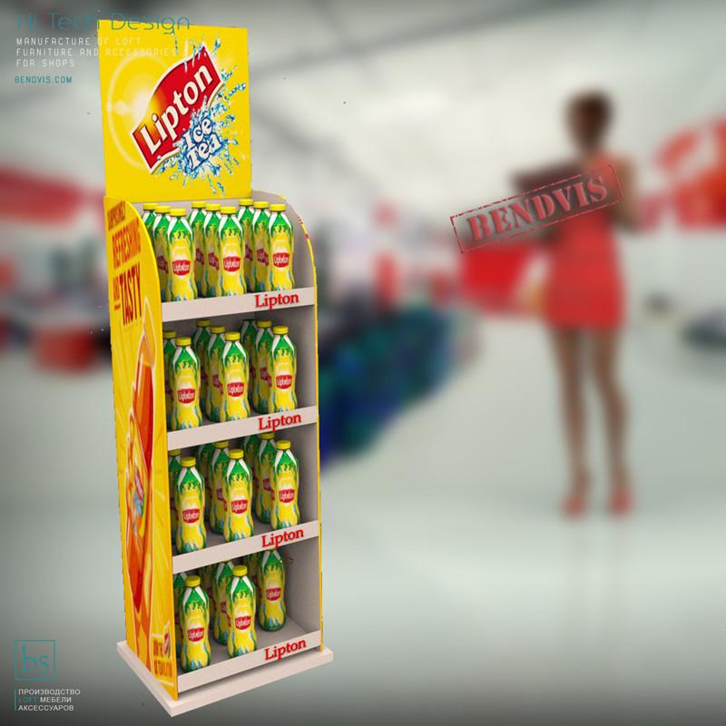 Стойка торговая для напитков Lipton