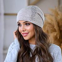 """Женская шапка LaVisio """"Шейла"""" 650-010 бежевый"""