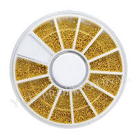 Бульон металлический в карусели золото