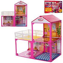 ДомБольшой двухэтажный для кукол типа барби,6982A