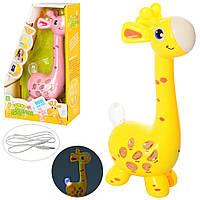 Микрофон 10814 (24шт) жираф,23см,муз-звук(анг),запись,повтор,подкл.к телеф,2цв,бат,в кор,17-27-7,5см