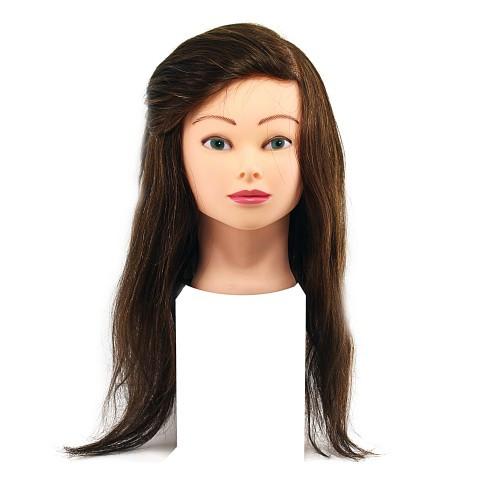 Голова для моделирования 1806А натуральные коричневые волосы