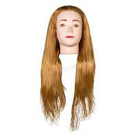 Голова для моделирования 4-N-30B искусственные волосы темные русые