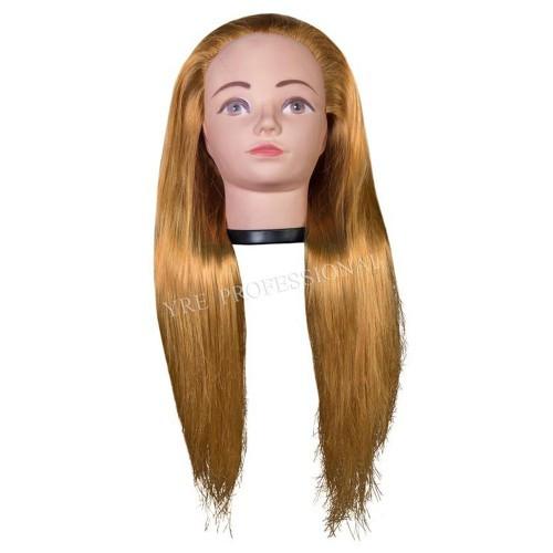 Голова для моделирования 4-NT-144 искусственные волосы светлые русые
