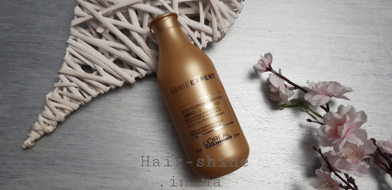 Восстанавливающий шампунь для поврежденных волос Serie Expert Absolut Repair Gold Shampoo 300 ml