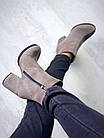 Женские ботинки в сером цвете, натуральная замша  38 39 ПОСЛЕДНИЕ РАЗМЕРЫ, фото 4