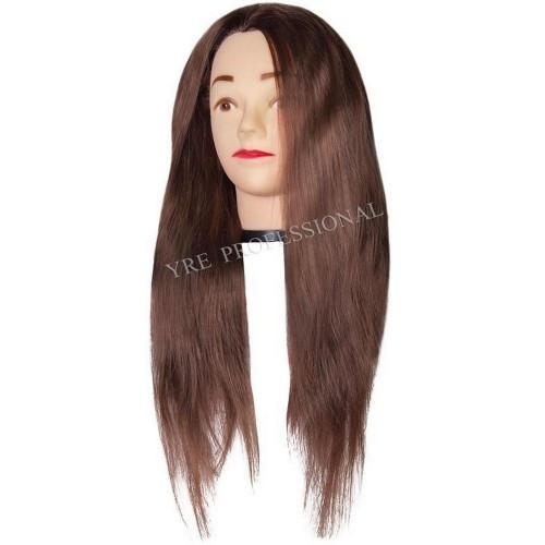Голова искусственная коричневая 45см