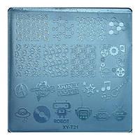 Диск для стемпинга квадратный XY-T-21