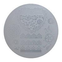 Диск для стемпинга круглый пластиковый XY-G15