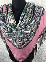 Павлопосадский платок с бахромой (4), фото 1
