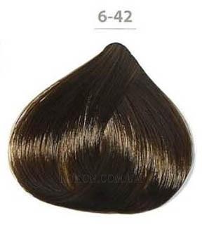 Стойкая крем-краска DUCASTEL Subtil Creme 60мл 6-42 - Медно-перламутровый тёмный блондин
