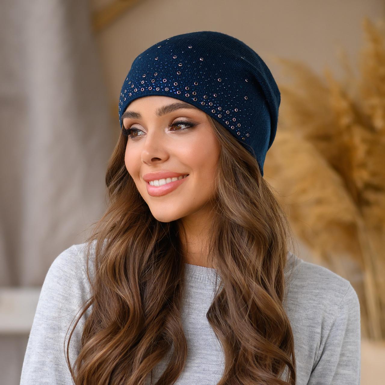 """Женская шапка LaVisio """"Офелия"""" 646-003 синий"""