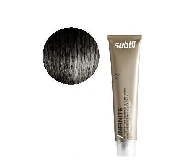 Стойкая безаммиачная краска для волос DUCASTEL Subtil Infinite 60 мл 3 - тёмный шатен